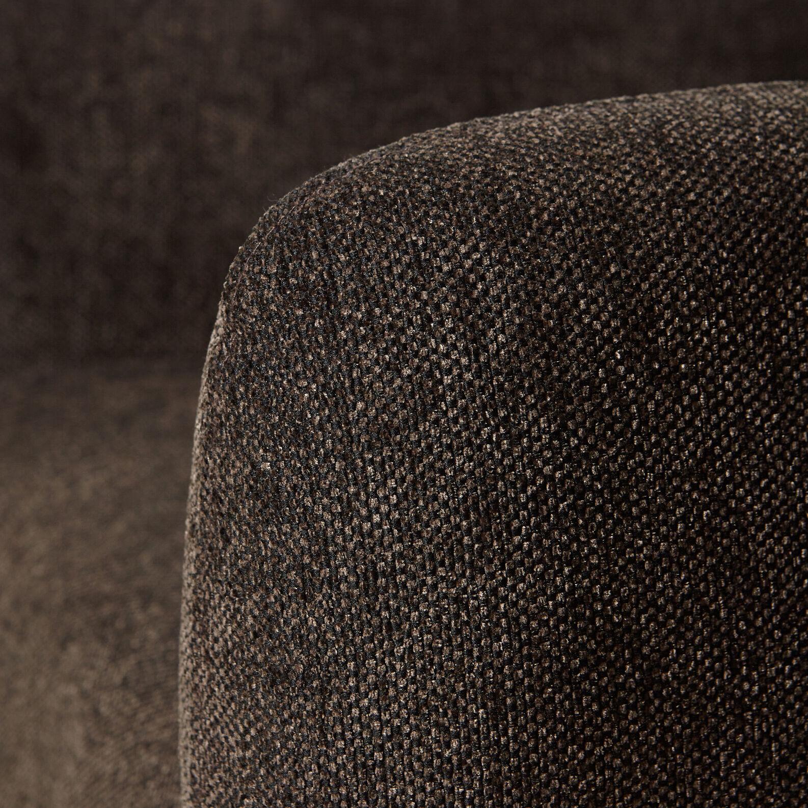 Coffee velvet armchair