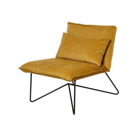 Lemon velvet armchair