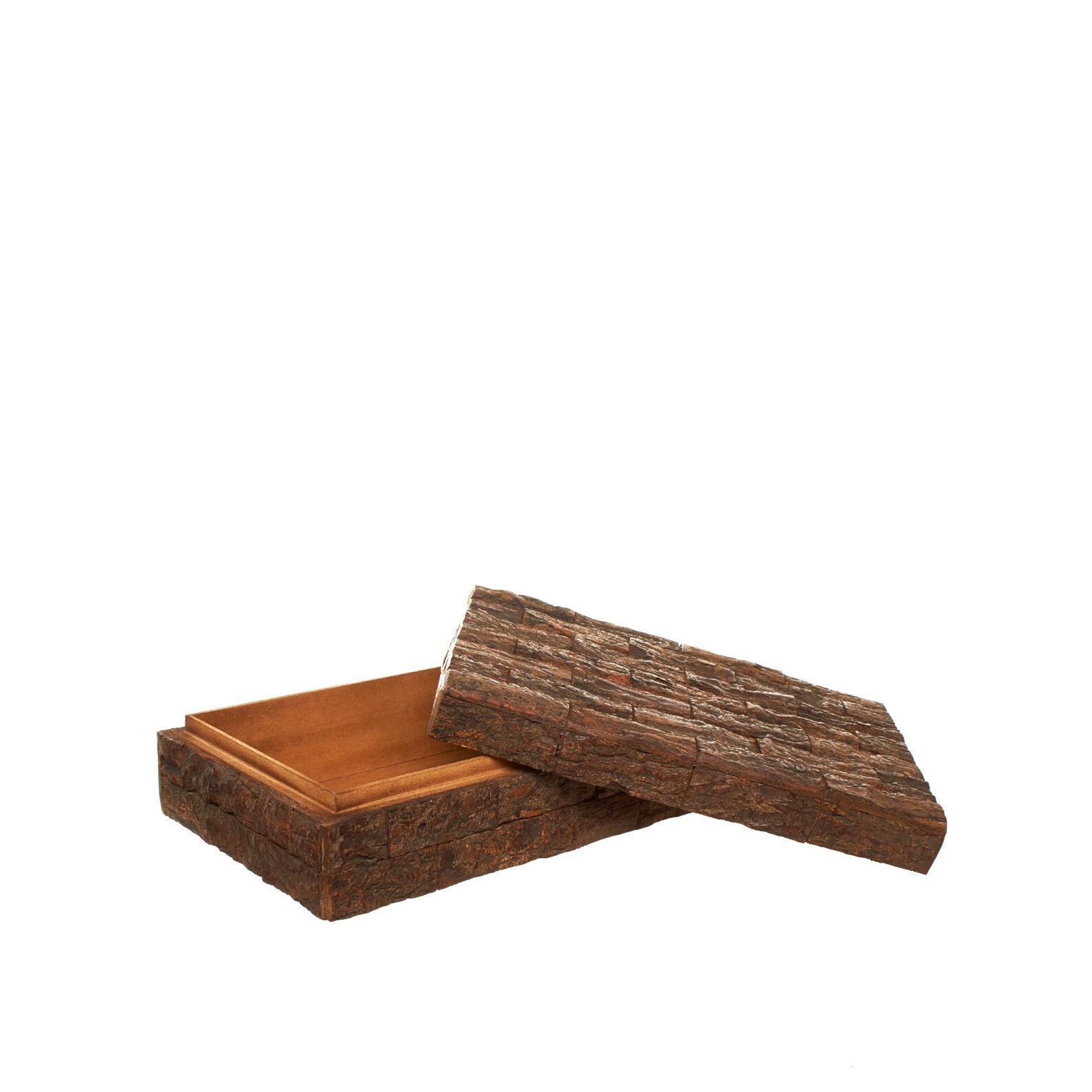 Bark-effect cork box