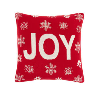 Joy cushion in knitted cotton 45x45cm