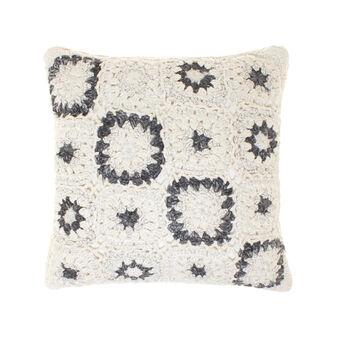 Cuscino cotone lavorato crochet