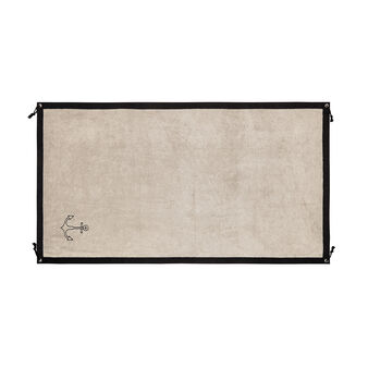 Cotton terry beach towel with anchor embroidery