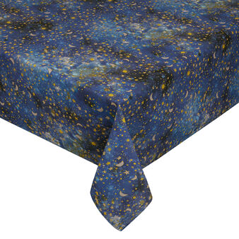 Cotton twill tablecloth with space print