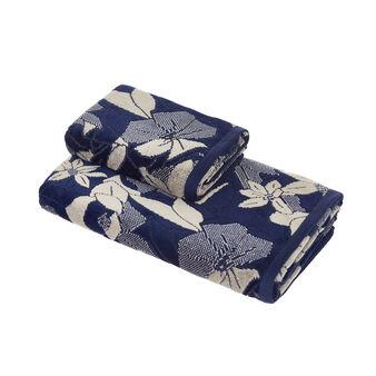 Asciugamano cotone velour disegno floreale