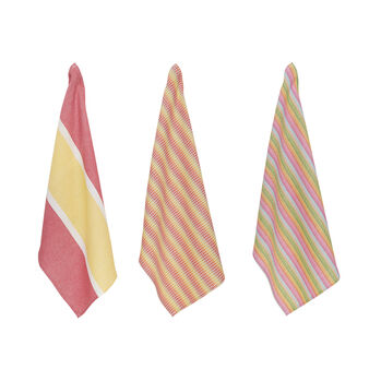 3-pack striped tea cloths in 100% cotton