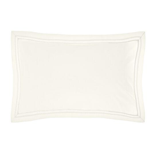 Portofino pillowcase in 100% cotton percale with drawn thread work