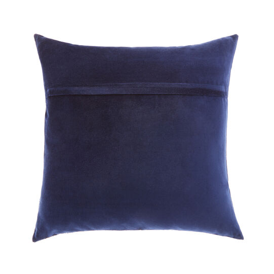 Velvet cushion with circle embroidery 45x45cm