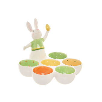 Ceramic egg cup plate