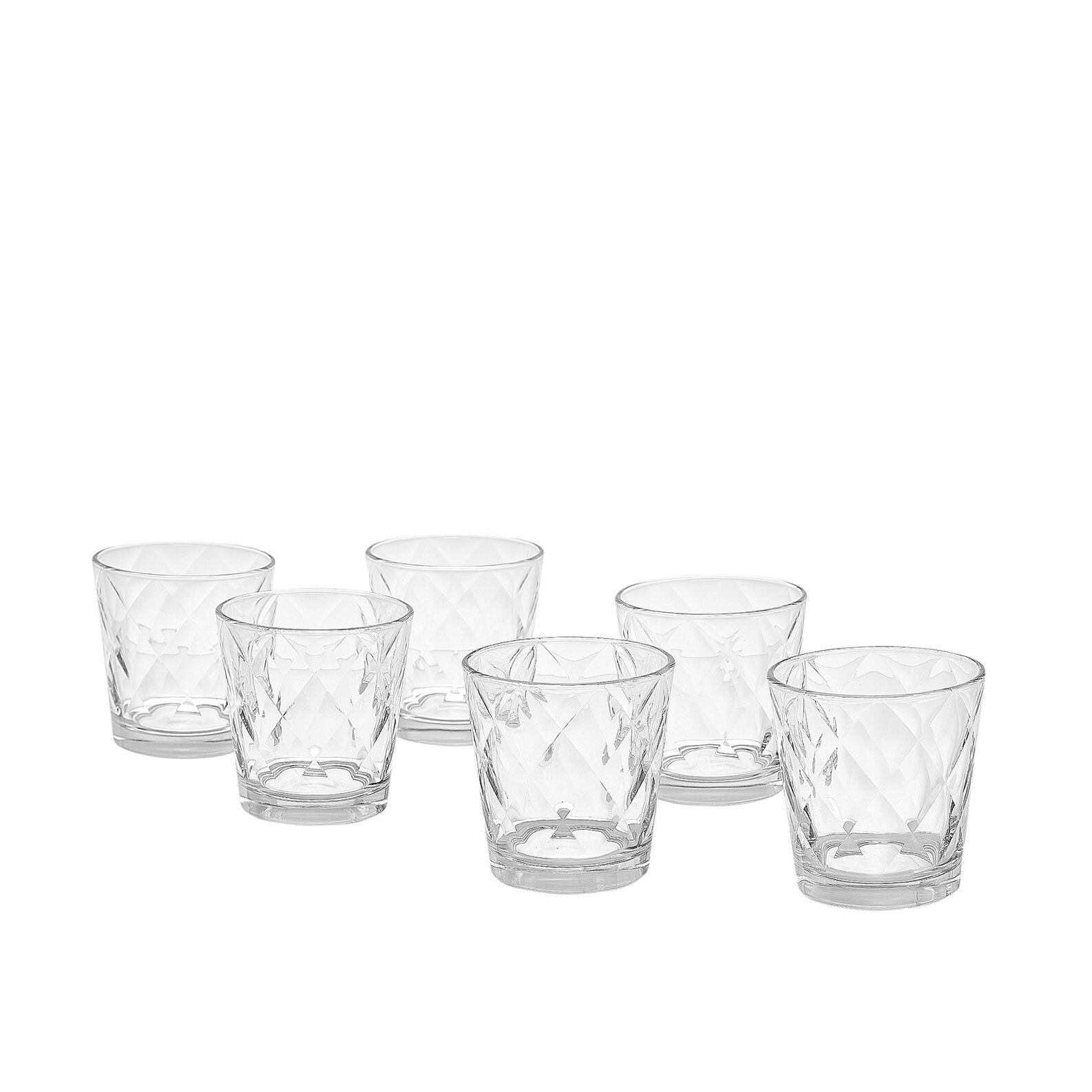 Set of 6 tumblers in Kaleido glass