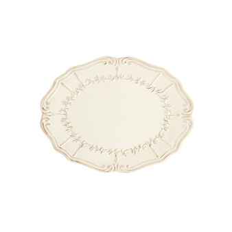 Genny decorated oval ceramic plate
