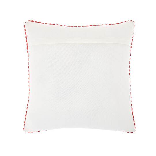 Cushion with flower embroidery 45x45cm