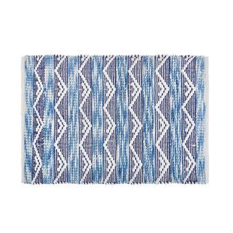 100% cotton bath mat with tribal pattern
