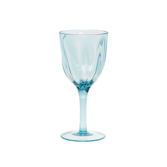 Plastic goblet with wave effect
