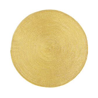 Round woven PVC table mat