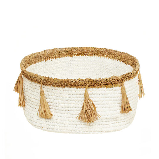 Lalla sisal basket with tassels
