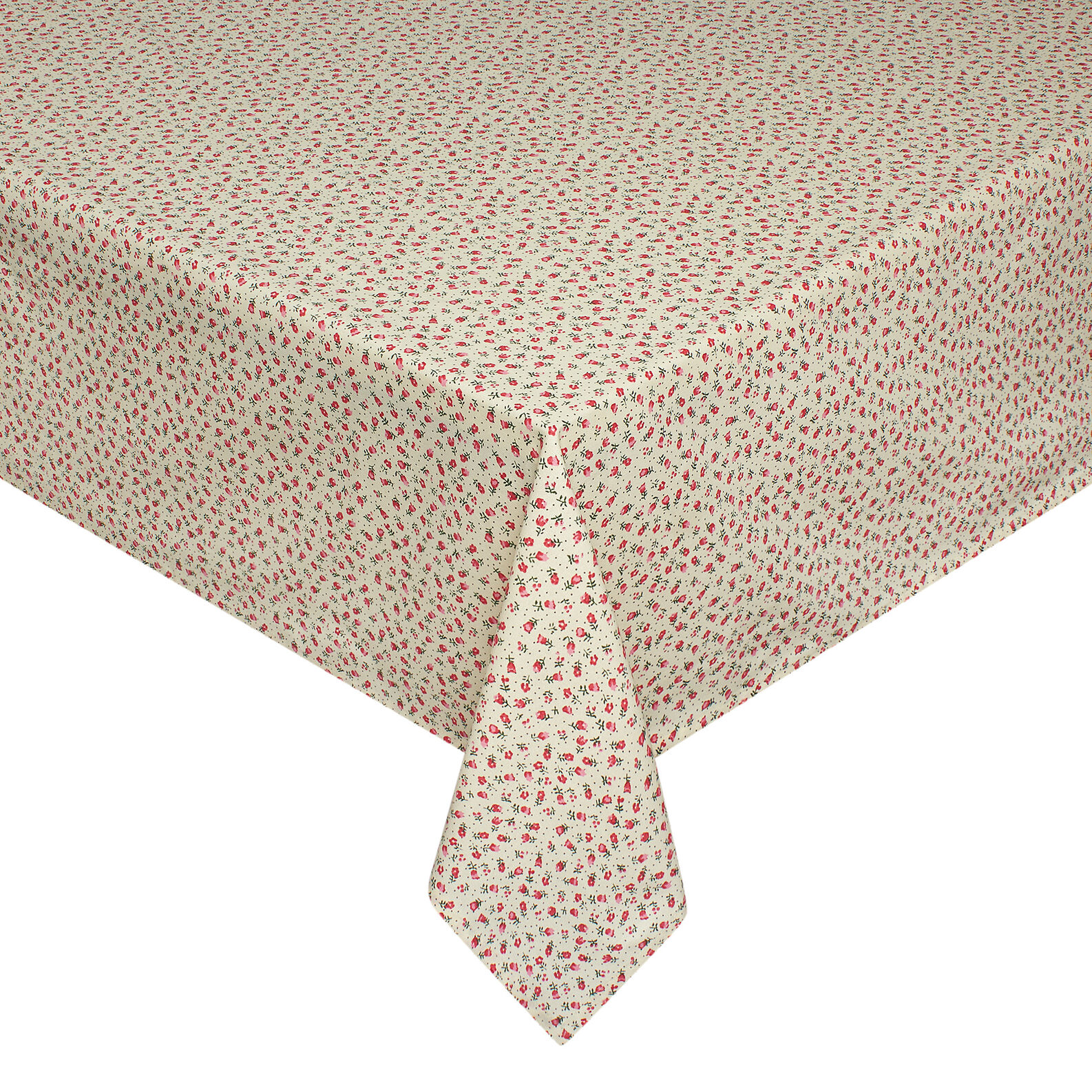 100% cotton tablecloth with tiny flower print