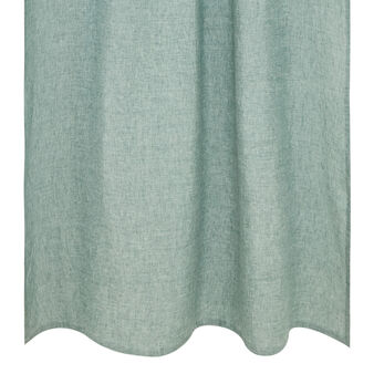 Solid colour curtain in 100% linen with hidden loops