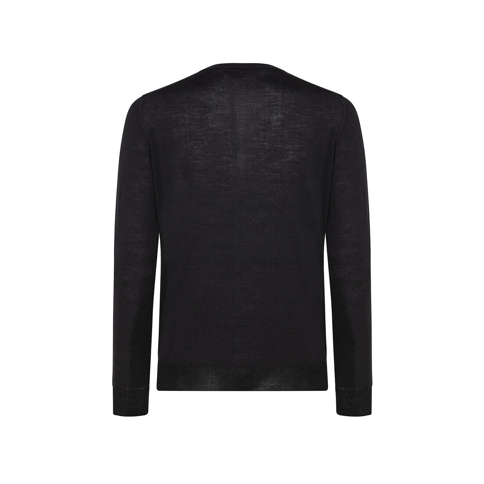 Extra-fine merino wool pullover with round neck