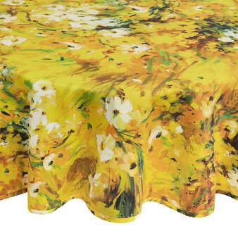 Tovaglia rotonda puro cotone stampa floreale