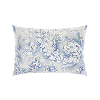 Rectangular cushion with paisley print
