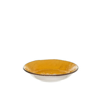 Handmade ceramic soup plate