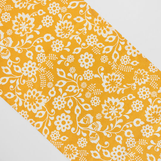 100% cotton table runner with sunflower print