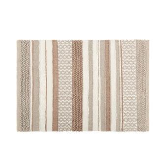 100% cotton bath mat with patchwork effect