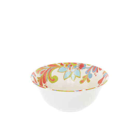 Small melamine bowl with red flower