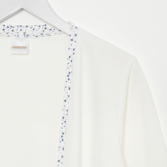 Solid colour fleece cardigan