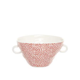 Porcelain bowl with geometric motif