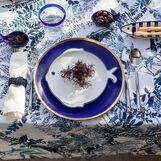 Porcelain fish-shaped plate