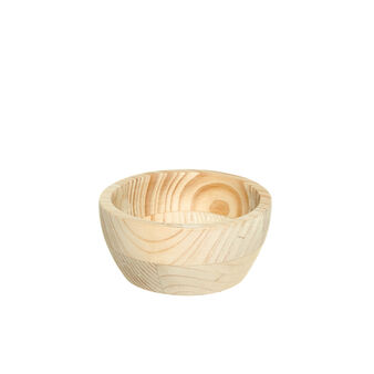 Natural wood dessert bowl