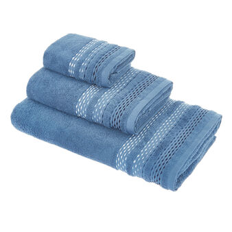 Cotton towel with chenille decoration