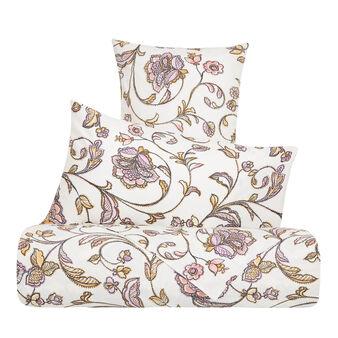 Parure lenzuola percalle cotone fantasia floreale