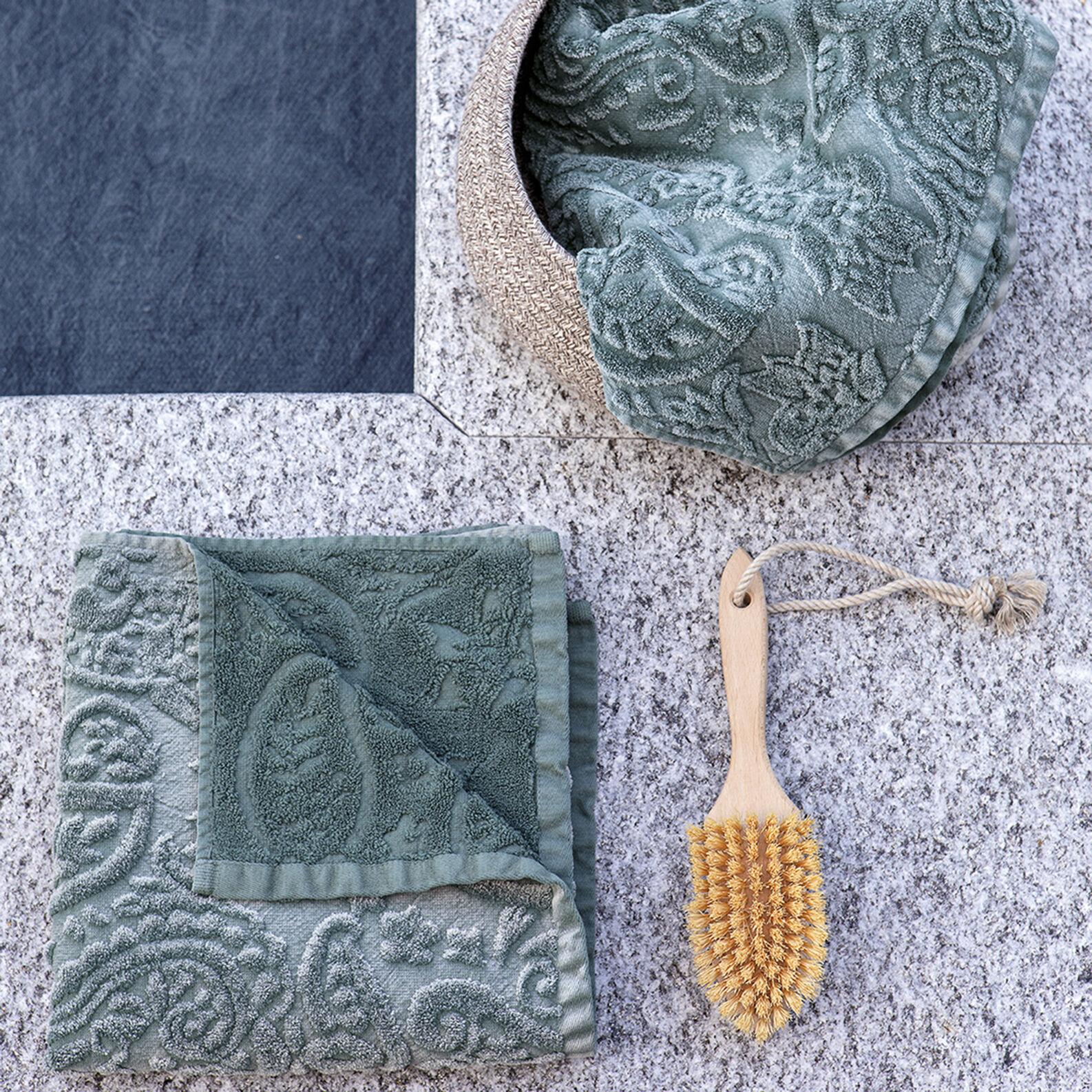 Asciugamano puro cotone decoro floreale