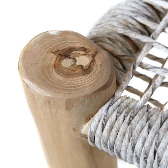 Lola stool in teak wood