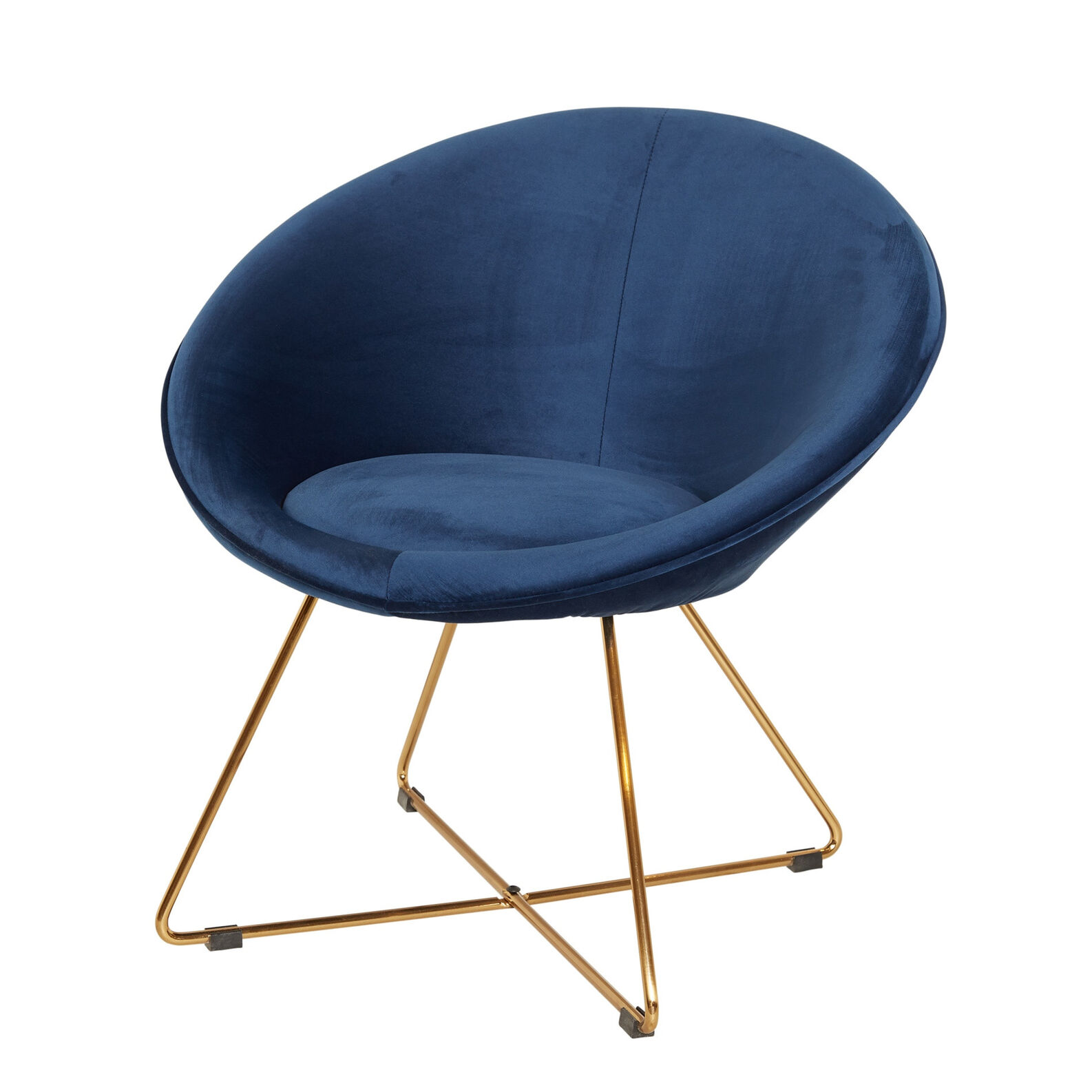 Blue Universe small velvet armchair