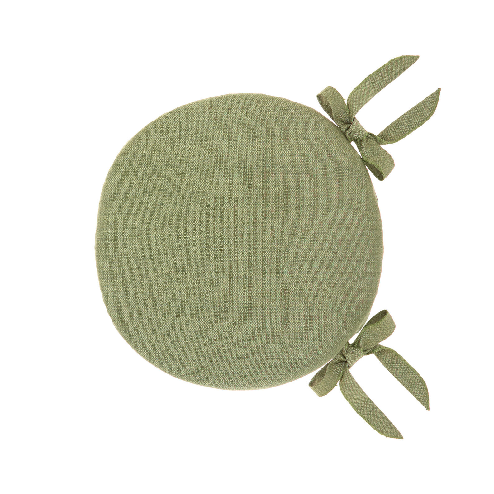 Round chair cushion solid colour