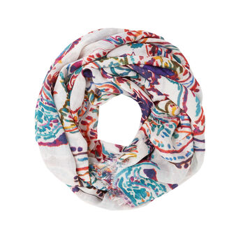 Paisley print viscose scarf