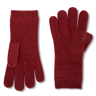 Solid color cashmere gloves
