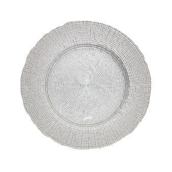 Sottopiatto vetro silver