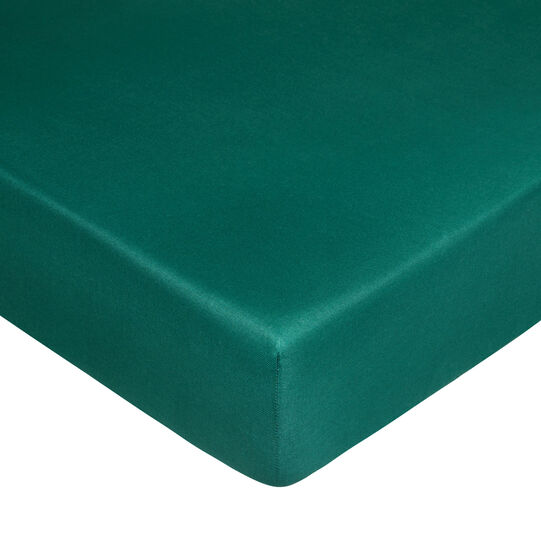 Solid colour fitted sheet in warm cotton