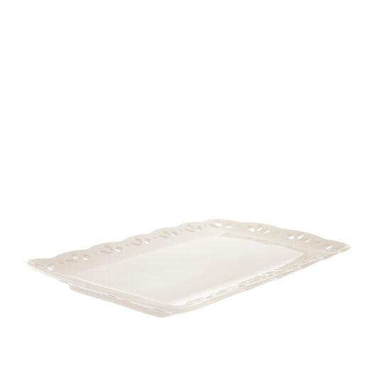 Piatto rettangolare ceramica traforata
