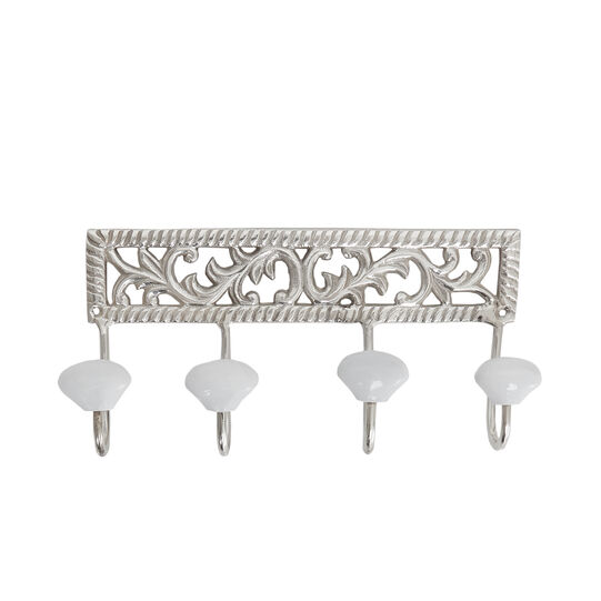 Silver-plated towel hook