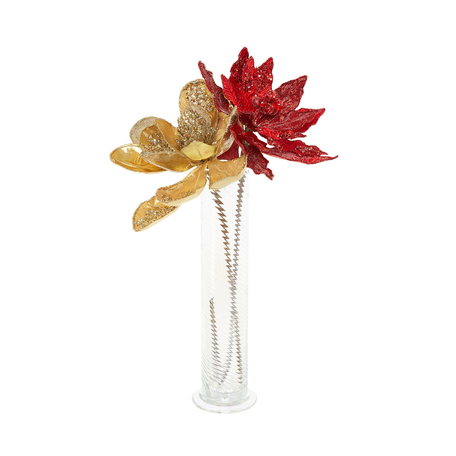Hand-decorated jewelled poinsettia