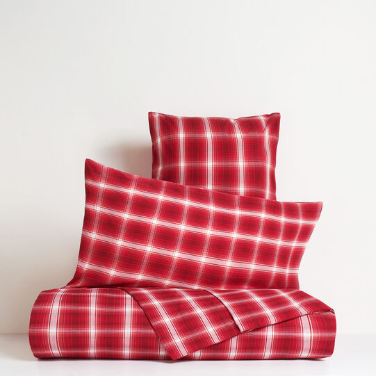 Tartan pillowcase in 100% cotton percale