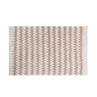 Woven cotton bath mat