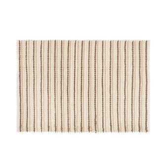 Micro cotton striped bath mat