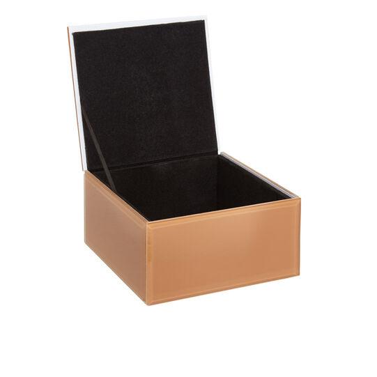 Coloured glass jewellery box