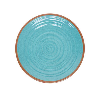 Folk melamine dinner plate